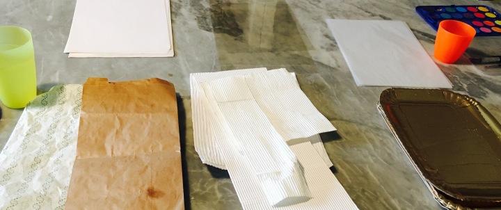 materiali per laboratorio di pittura