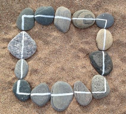 math-centers-white-lines-pebbles
